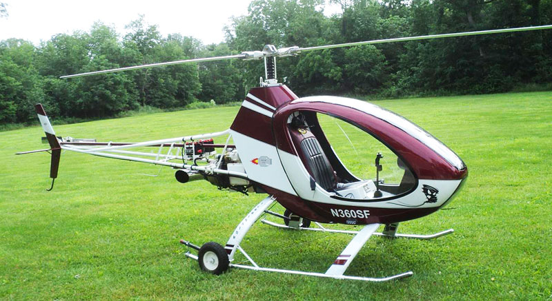 Turbine kit helicopter helicycle