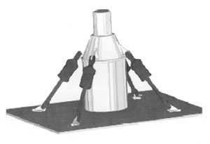 fludilastic pylon strut