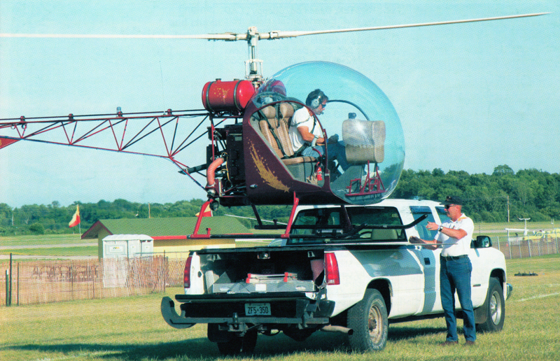 transporting the safari kit helicopter