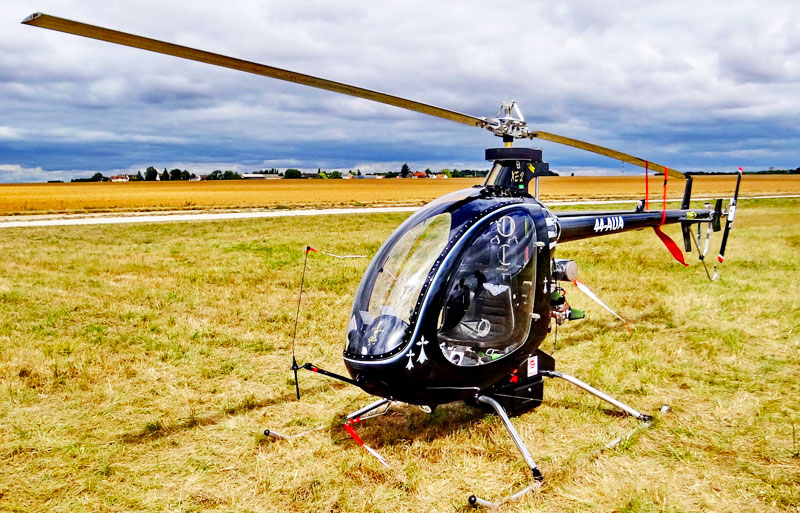ultralight helicopter display
