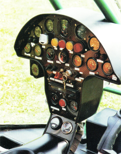 Dynali H2 helicopter instrument panel