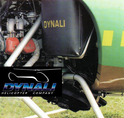 Dynali helicopter engine bay