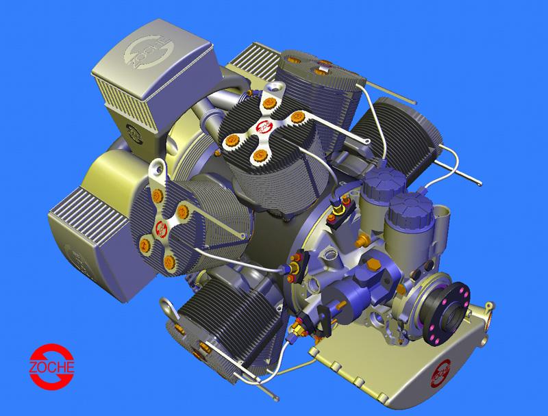 8 cylinder aero diesel
