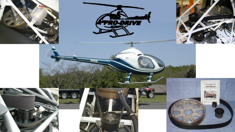 Helicopter Pro Drive 162SF belt system