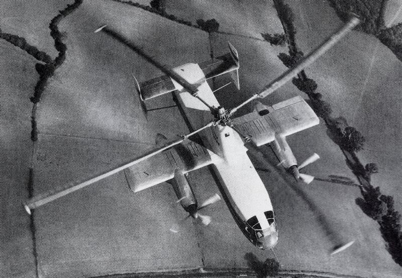 fairey rotodyne vtol aircraft