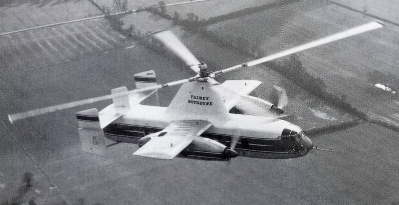 flying fairey rotodyne aircraft