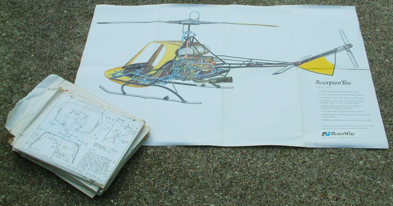 Rotorway Scorpion 2 helicopter kit plans