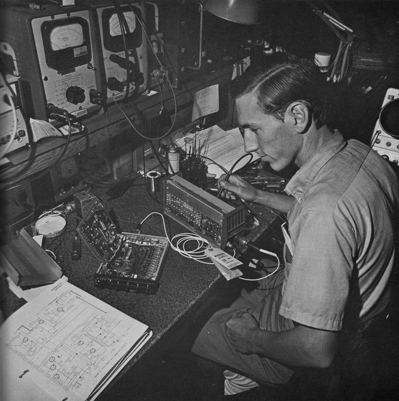 Aircraft Radio Audio technician Mike Bennett