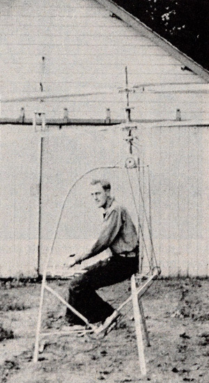 Doug Froebe man powered coaxial helicopter