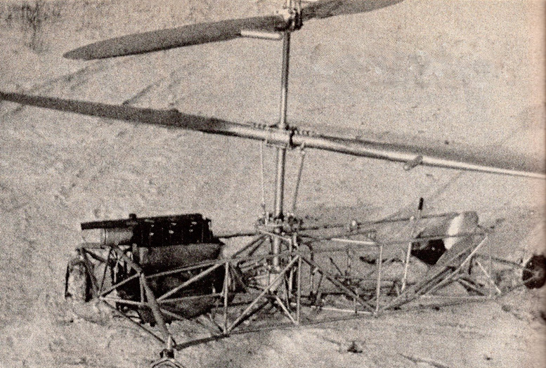 Froebe brothers coaxial helicopter