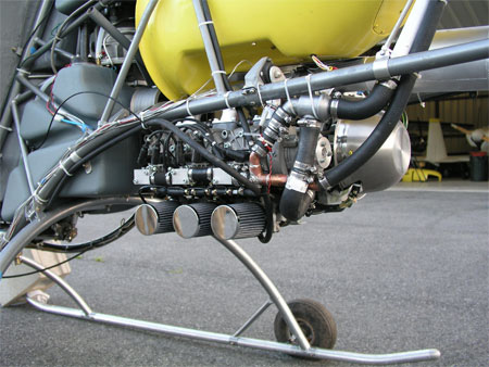 Helicycle Rotax 618 helicopter engine