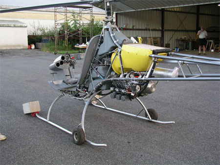 Helicycle kit helicopter two stroke engine