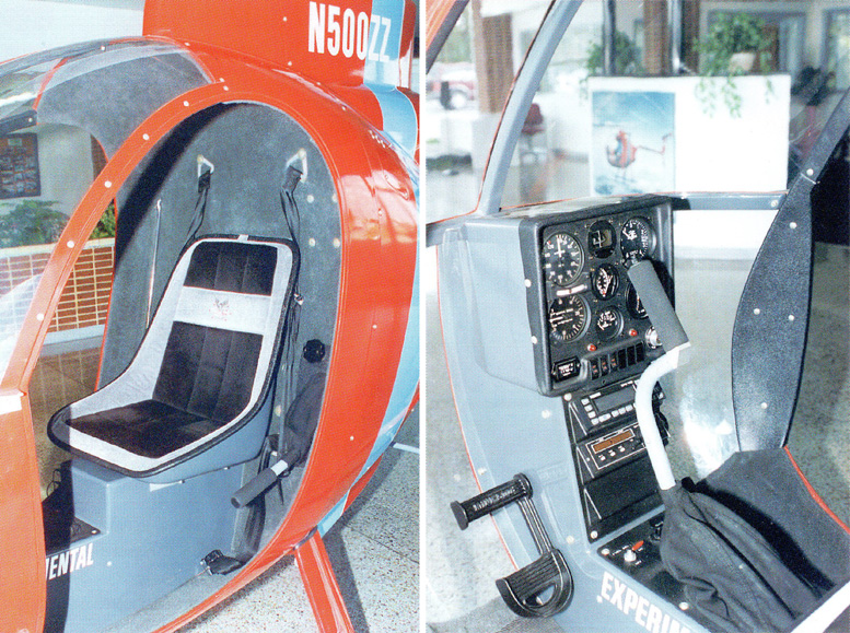 Mini 500 kit helicopter cabin construction