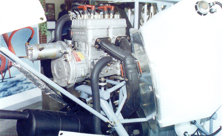 Revolution helicopter mini 500 rotax 582 engine