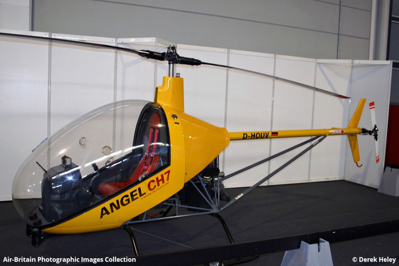 Angel CH 7 kit helicopter two stroke powered