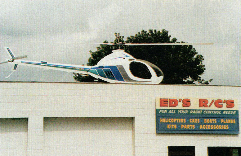 Ed DeRossi radio control helicopter