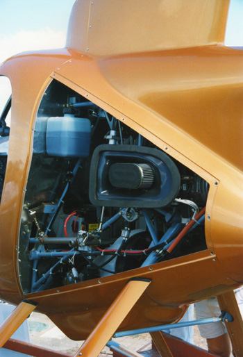 Mini 500 helicopter air intake