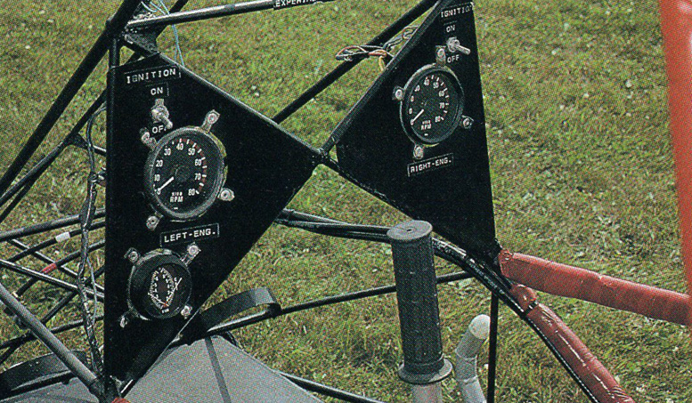 Nolan coaxial helicopter instrument panel