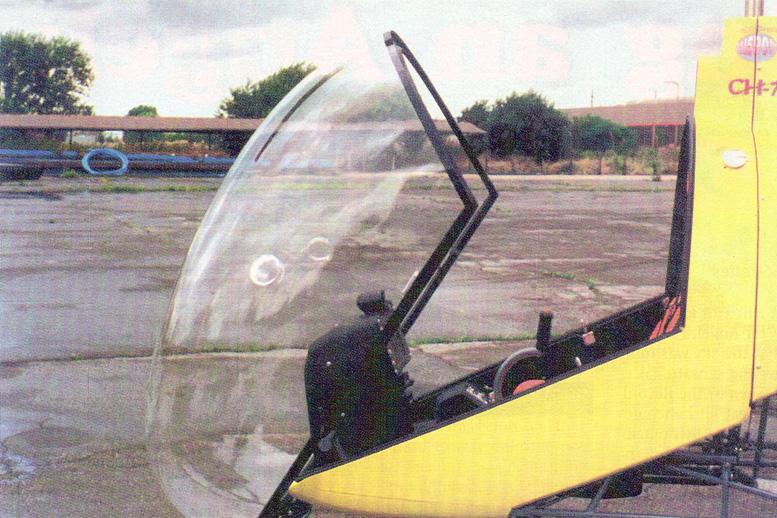 angel helicopter plexiglass cabin