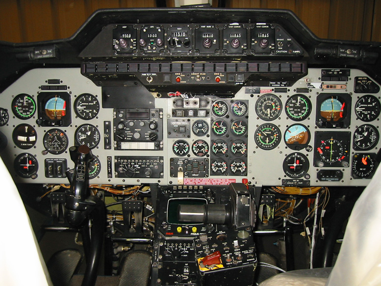 old helicopter instrument panel
