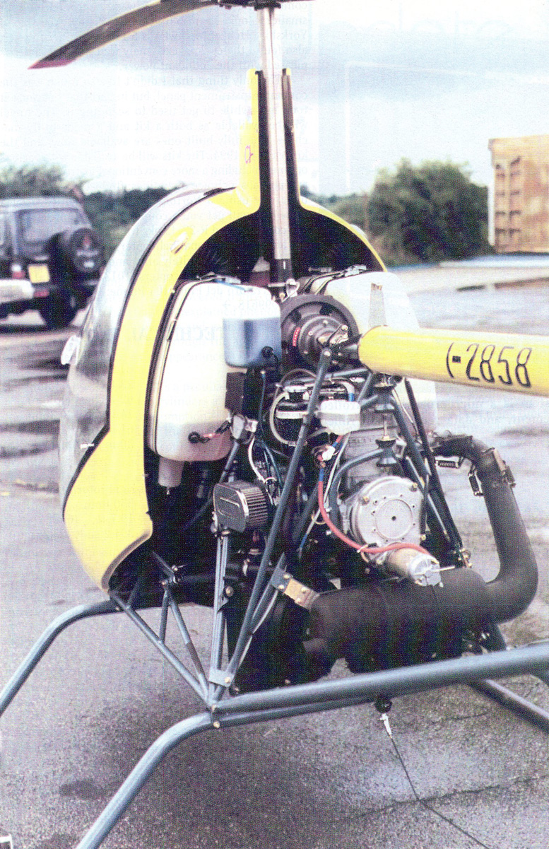 two stroke water cooled Rotax 582 helicopter