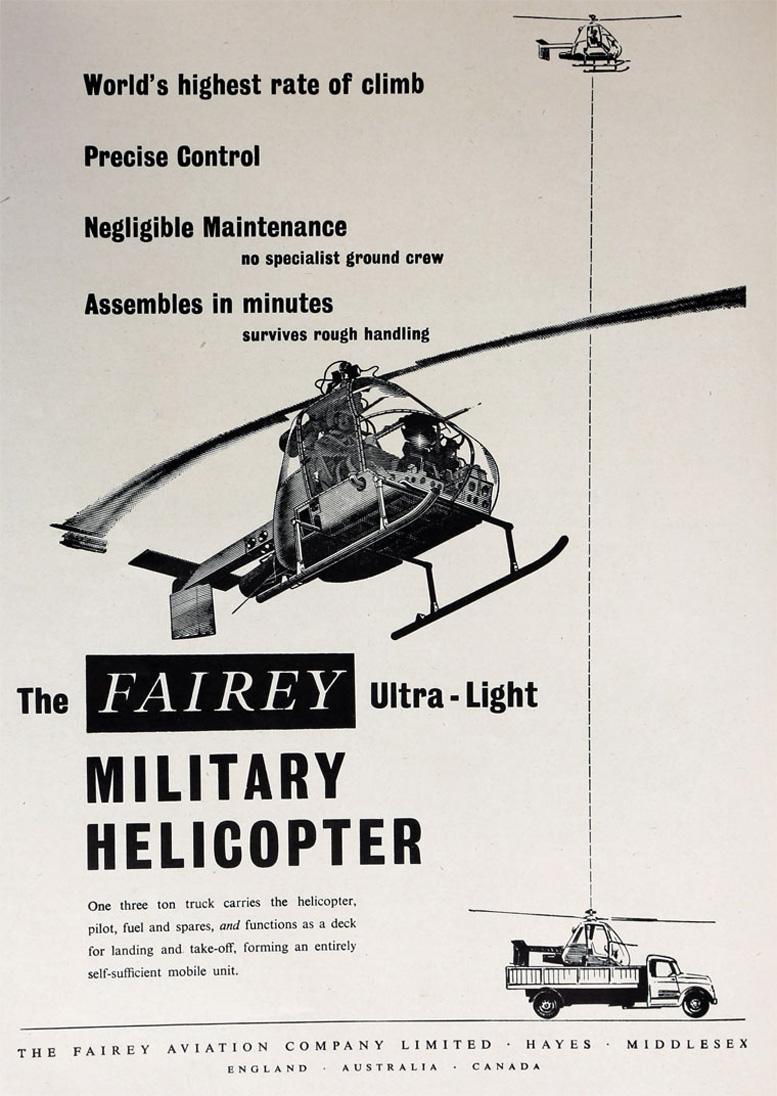 Aero Fairey Helicopter Advertising