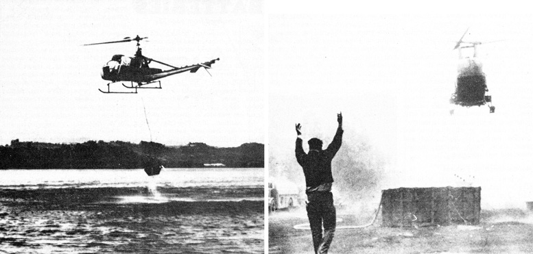 Early helicopter fire fighters