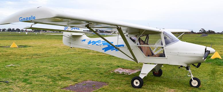 Gazelle 3442 ultralight plane oasis flight training