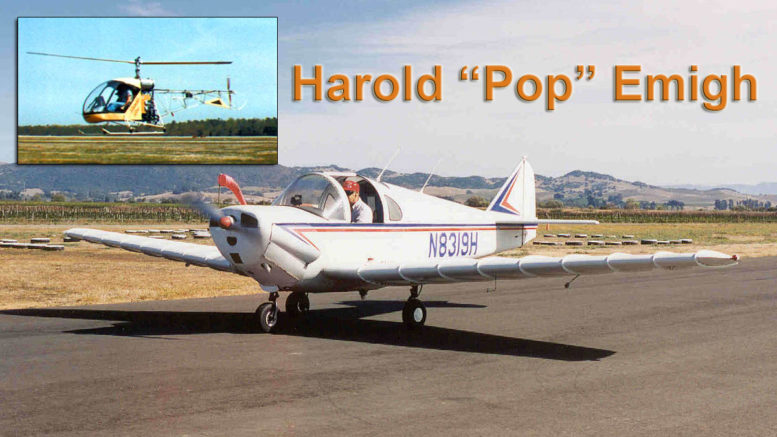 Harold Pop Emigh Trojan plane commuter helicopter