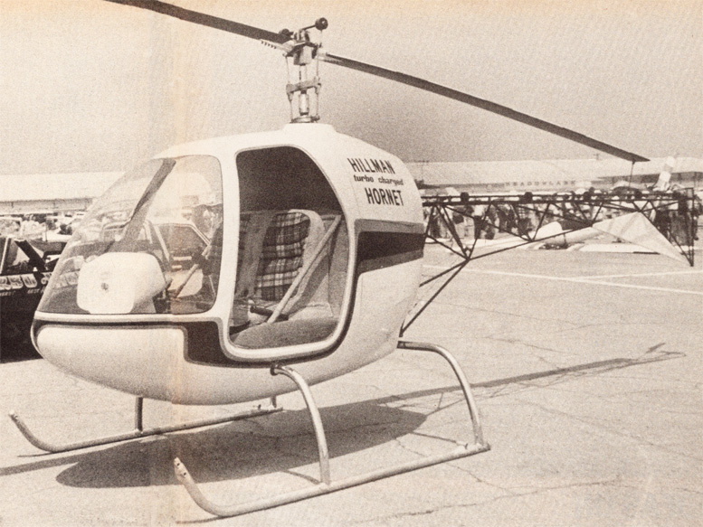 Hillman turbo charged hornet two seat helicopter