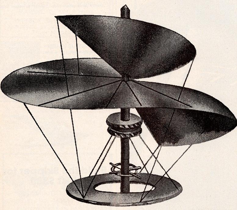 Leonardo da vinci 1490 helicopter design