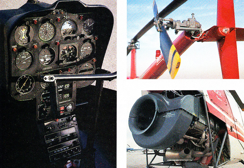 Parts of R22 helicopter