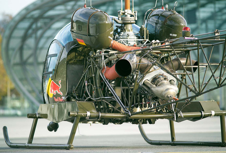 Red Bull Bell47G Turbine helicopter