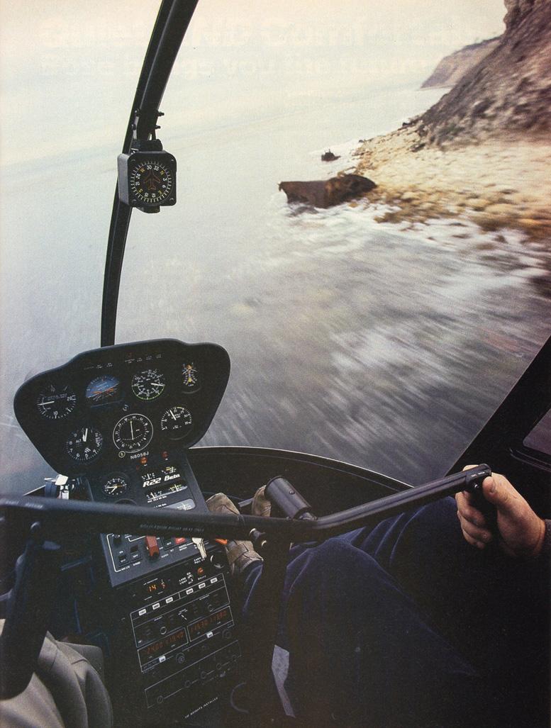 Robinson R22 beta flying low fast