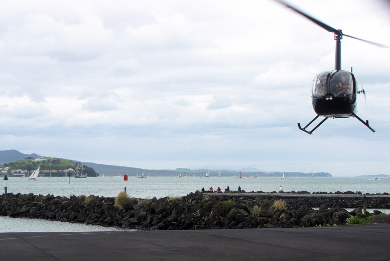 Robinson R22 helicopter seaside