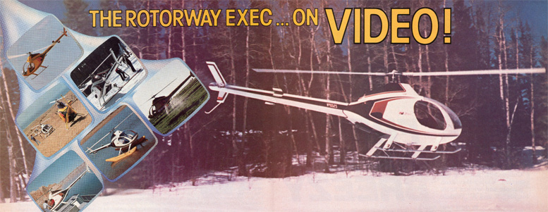 Rotorway exec helicopter on video