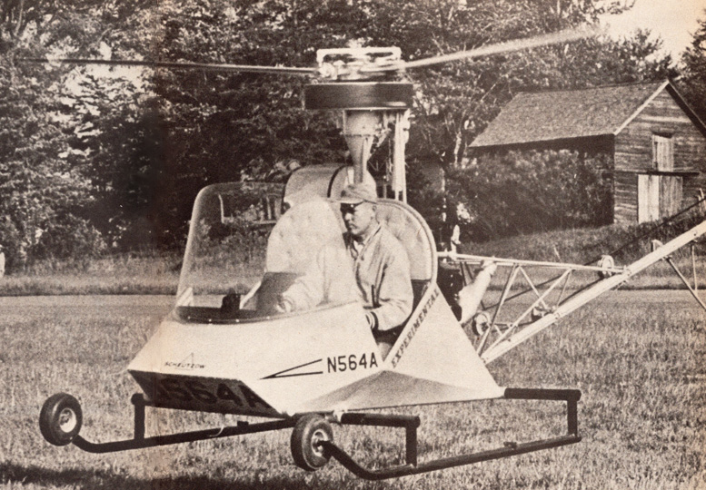 Scheutzow 90 hp bee helicopter hovering