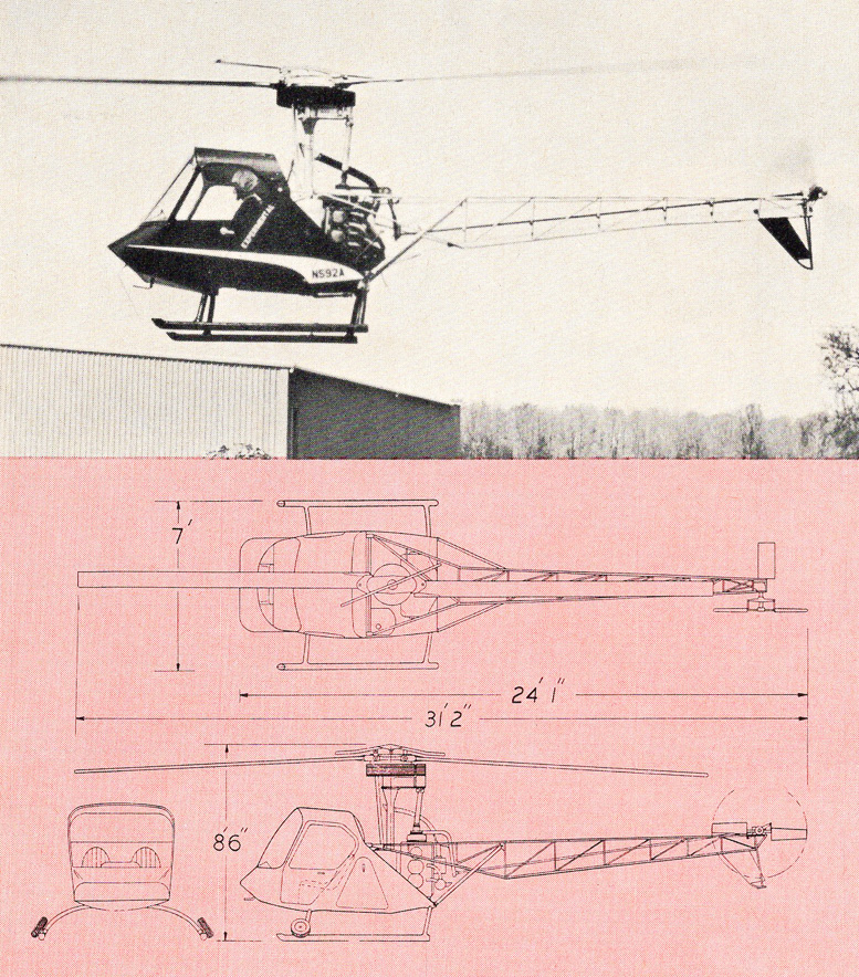 Scheutzow helicopter corporation two place model b helicopter