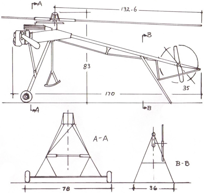 Stork helicopter dimensions