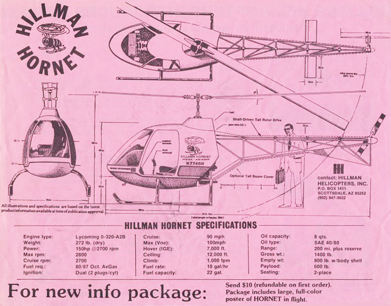 hillman hornet helicopter specifications
