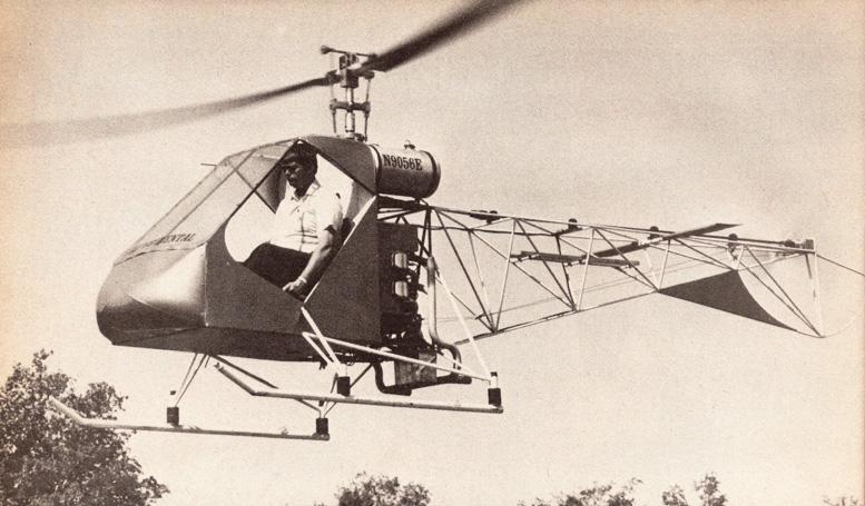 hovering homebuilt helicopter helicom commuter 2b