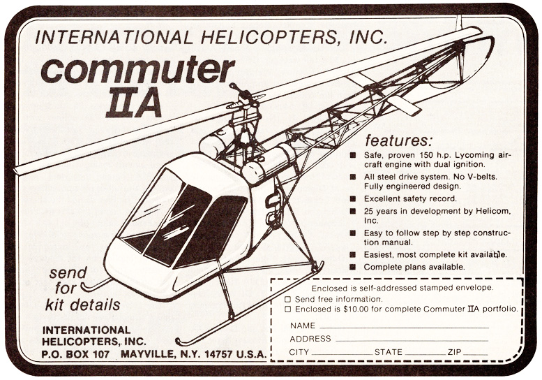 international helicopters Commuter II-A Helicopter kit
