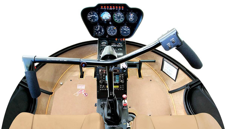 r22 helicopter cockpit