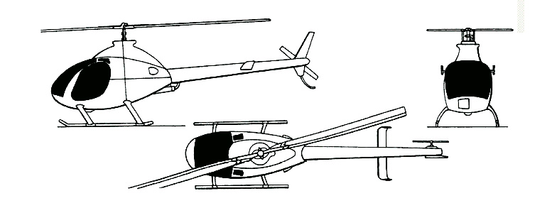 rotorway exec helicopter drawing
