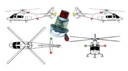 Aircraft lights being seen in the air