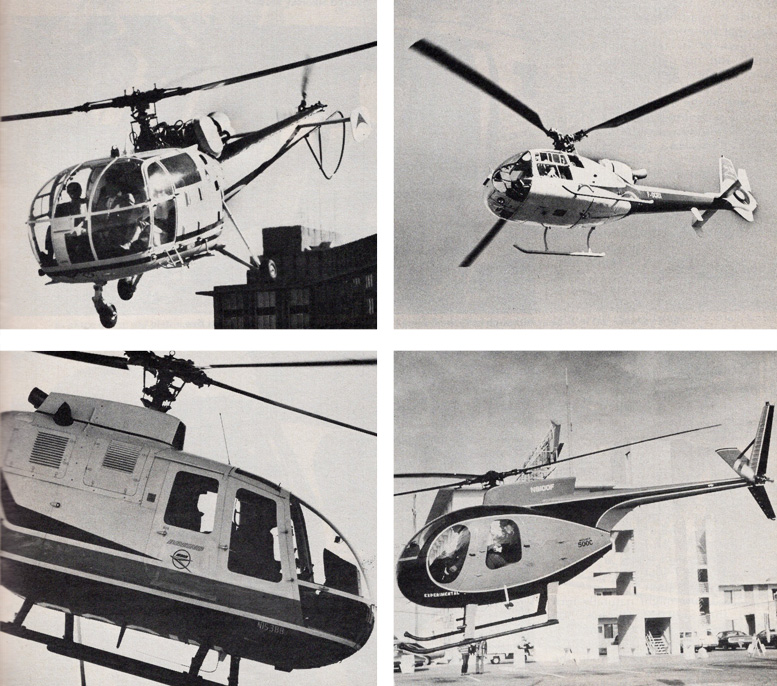 Alouette 3 Gazelle Hughes 500 Helicopter