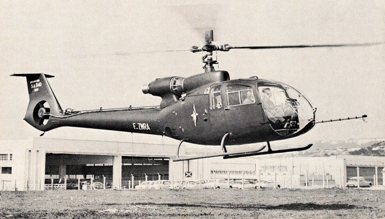 Alouette rigid rotor helicopter