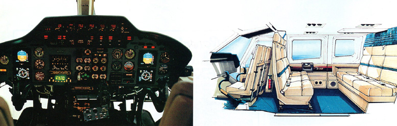 Bell 230 helicopter cockpit