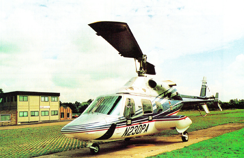 Bell 230 helicopter tricycle landing gear