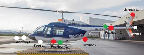 Bell Jet Ranger helicopter lightning system